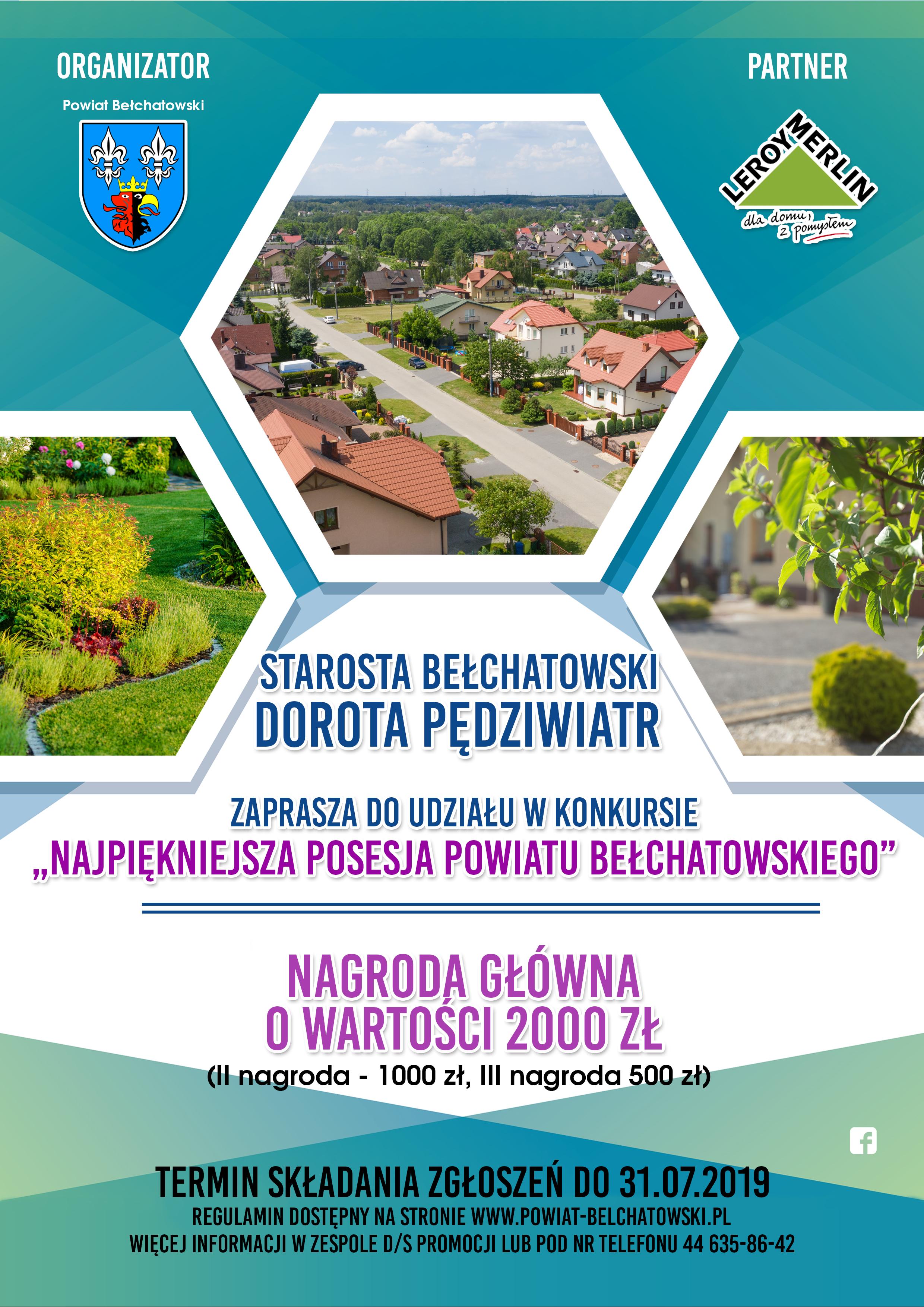 Ilustracja do informacji: Konkurs na najpiękniejszą posesję powiatu bełchatowskiego:
