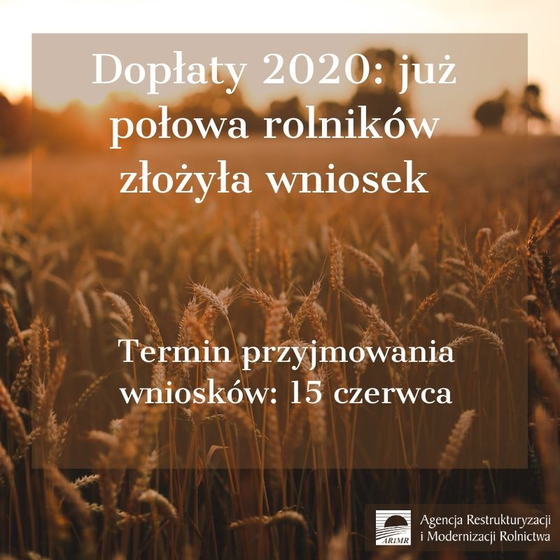 Ilustracja do informacji: Dopłaty 2020 - już połowa rolników złożyła wniosek: