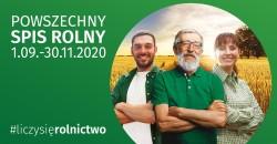 Baner: Powszechny Spis Rolny 2020