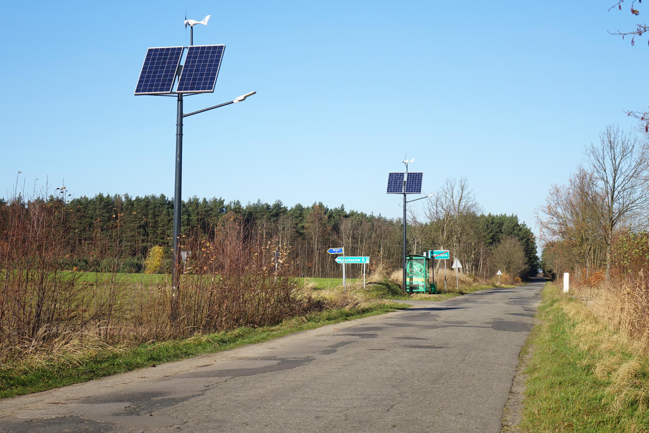 Ilustracja do informacji: Oświetlenie hybrydowe w Mikorzycach już działa: