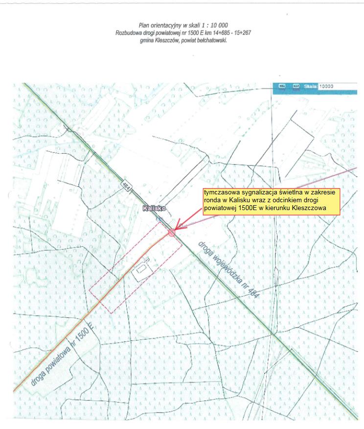 Ilustracja do informacji: Zmiana organizacji ruchu na skrzyżowaniu w Kalisku: