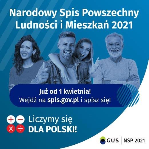 Ilustracja do informacji: 1 kwietnia rusza Narodowy Spis Powszechny Ludności i Mieszkań 2021:
